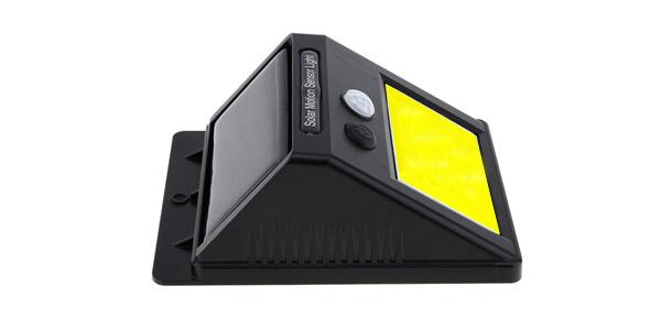 solar sensor wall light battery